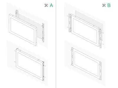 7 inch monitor metaal (4:3)